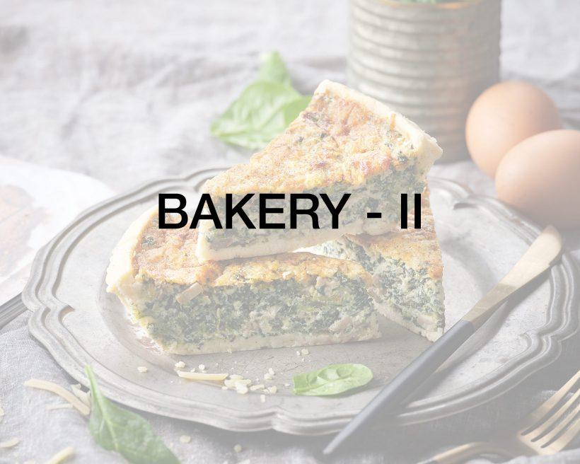 Bakery – II